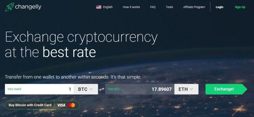 instant cryptocurrency exchange platform