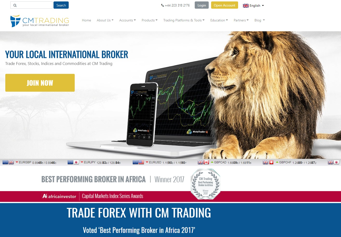 CM Trading Broker Rating
