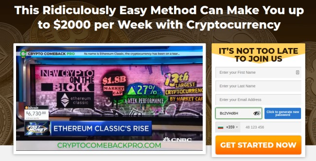 Crypto Comeback Pro Review - Increase Your Earnings With Little Effort