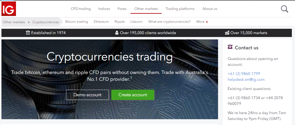 IG for Cryptocurrency Trading – Does It Get Better Than That?