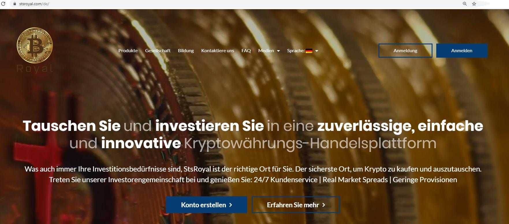 Gute Gründe, StsRoyal für den Crypto-Handel zu nutzen