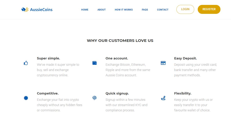 AussieCoins features