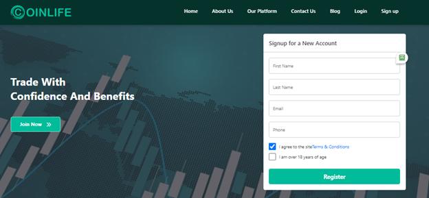 Coinlife registration form