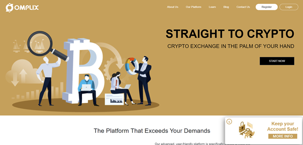 trading crypto with Omplix