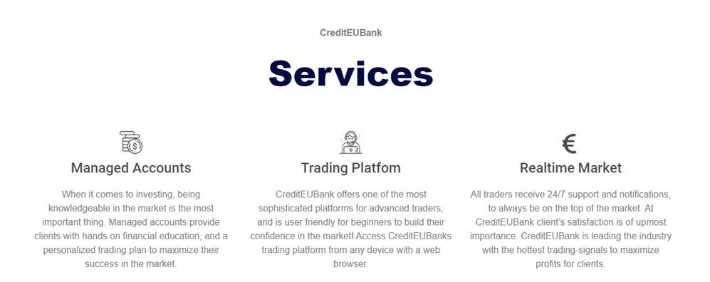 CreditEUBank services