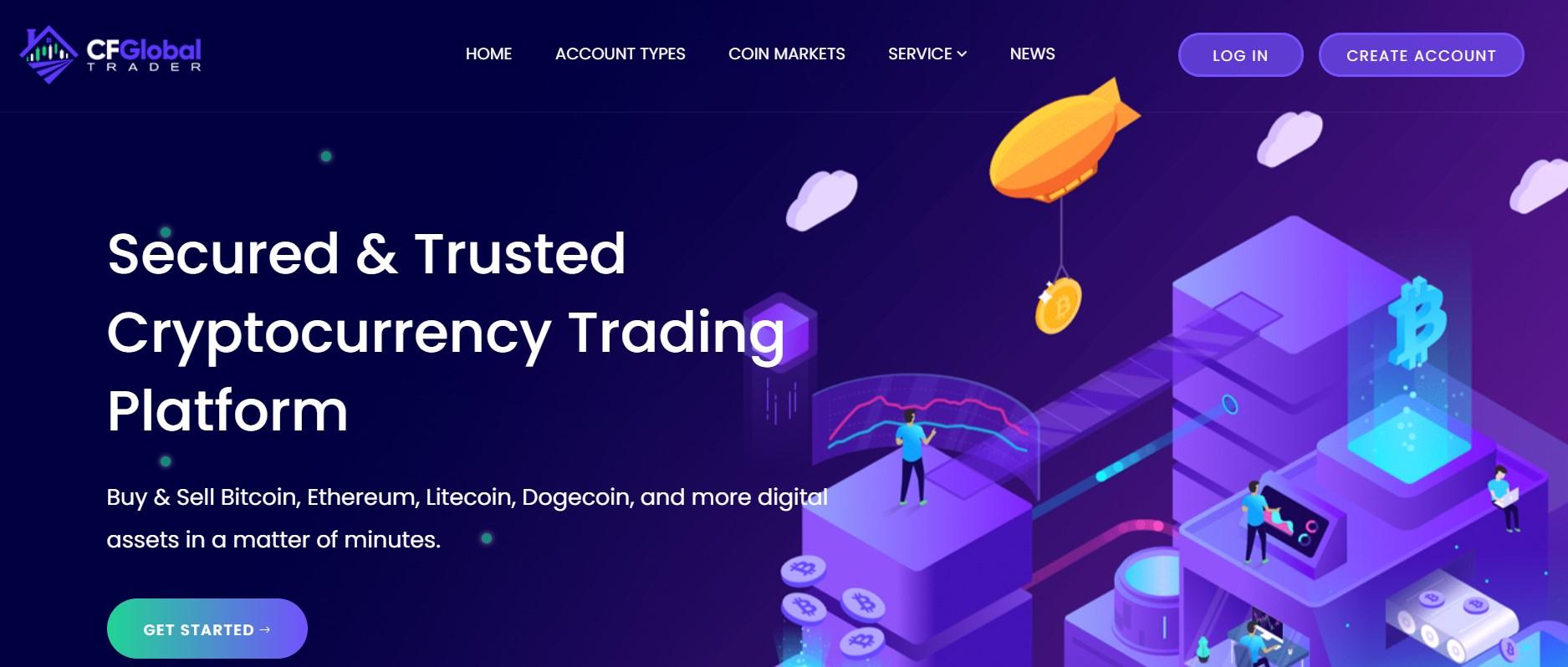 CF Global Trader website