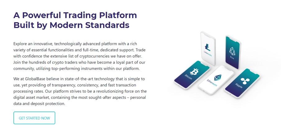 GlobalBase powerful trading platform